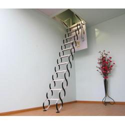安装电动折叠简易壁挂伸缩楼梯 阁楼楼梯图片