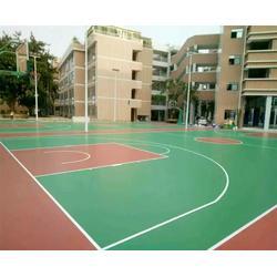 合肥塑胶球场、合肥秀珀地坪工程、篮球塑胶球场图片