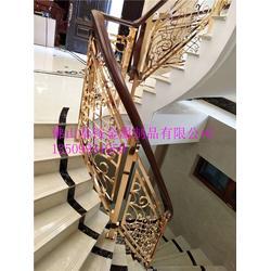 铝板雕刻楼梯护栏工程案例效果图、微旋转雕花护栏3D立体效果图案图片