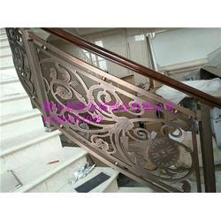 银红金别墅楼梯护栏法式屏风前台壁画图片