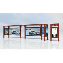 厂家特别定制大型候车亭现代化城市不锈钢候车亭图片