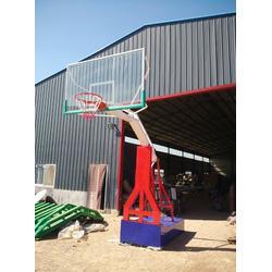 淄博箱式篮球架_益泰体育公司_大学用平箱式篮球架图片