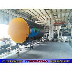 hdpe钢带增强缠绕管波纹管污水管700hdpe700缠绕管图片