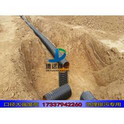 hdpe增强缠绕管波纹管污水管300  hdpe300缠绕管图片