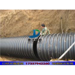 hdpe钢带增强缠绕管波纹管污水管400  hdpe400缠绕管图片