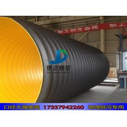 hdpe钢带增强缠绕管波纹管污水管500  hdpe500缠绕管图片