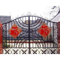 中式铁艺大门|晋中铁艺大门|山西达美铁艺护栏(查看)图片