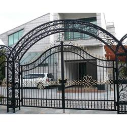 山西达美铁艺护栏(图)|铁艺大门厂家|文水铁艺大门图片