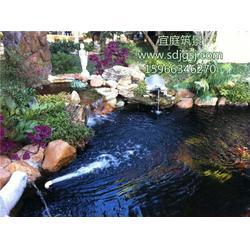 锦鲤鱼池设计施工图片