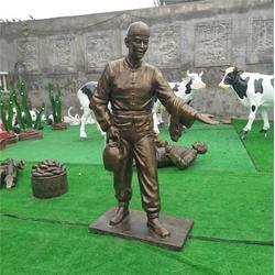 仿铜人物雕塑定制_鑫森林雕塑(在线咨询)_香港仿铜人物雕塑图片