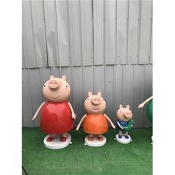 小猪佩奇卡通雕塑哪家好-湖北小猪佩奇卡通雕塑-鑫森林雕塑厂图片