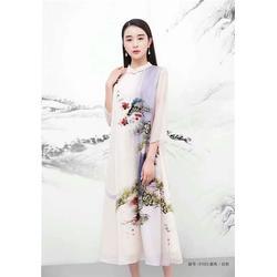 真丝连衣裙品牌折扣女装-品牌折扣女装-莎奴服饰一手货源图片