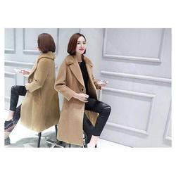 品牌折扣女裝_品牌折扣女裝大衣_莎奴服飾雙面絨大衣圖片