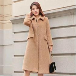 品牌折扣女装,莎奴服饰双面绒大衣,品牌折扣女装大衣图片