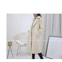 品牌折扣女装_莎奴服饰双面绒大衣_品牌折扣女装货源图片