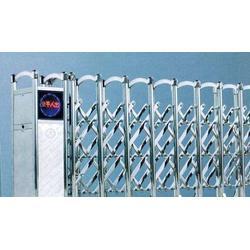 淮北自动不锈钢伸缩门厂家,广福伸缩门,自动不锈钢伸缩门厂家图片