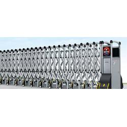 伸缩门电动门安装-广福电动伸缩门图片