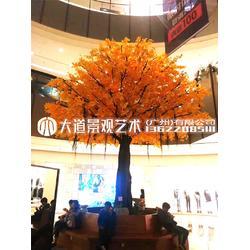 仿真银杏树 假银杏 大型假树 黄色植物餐厅大树装饰舞台拍摄道具图片