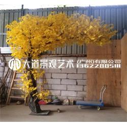 仿真大型银杏树黄色金色许愿发财树商场节日室内装饰造景假树植物图片