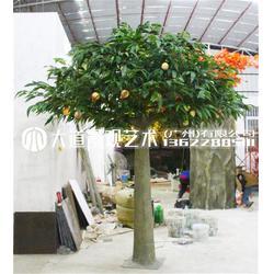 假树苹果树橘子树仿真植物大型客厅装饰落地塑料盆景仿真绿植假花图片