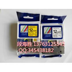 兄弟标签机色带TZ-231白底黑字12mm图片