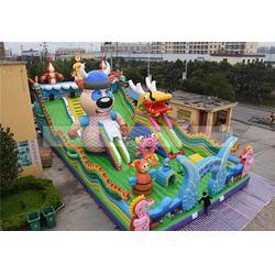 儿童室外充气城堡-蓝客游乐设备-充气城堡图片