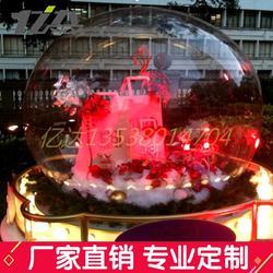 亚克力空心球圣诞大球商场装饰球空中吊饰透明大肚子球罩图片