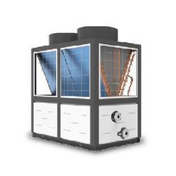 空气能热泵地暖,华春新能源(在线咨询),空气能热泵地暖工程图片