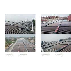 集热工程_平板式太阳能集热工程_华春新能源(多图)图片