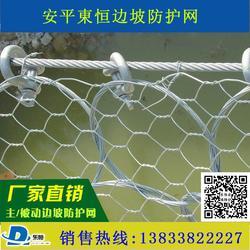 边坡防护网厂家 主动边坡防护网 被动柔性防护网 缠绕型环形网 山坡拦石网 安平東恒缆索护栏图片