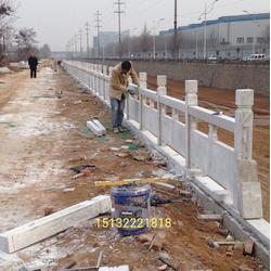河提草白玉石栏杆图片