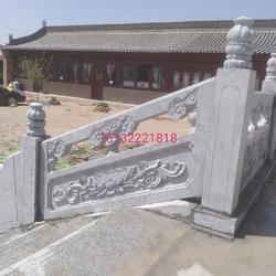 寺庙青石栏杆图片