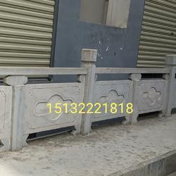 河道草白玉石栏杆 浮雕栏板图片