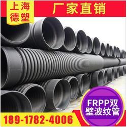 FRPP加筋管 双壁波纹管 承插式加筋波纹管图片