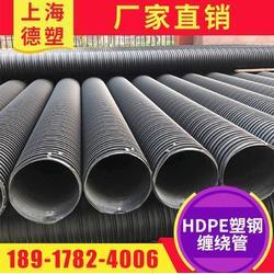 HDPE塑钢缠绕管 中空壁缠绕管图片