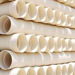 UPVC双壁波纹管排污管双壁pvc波纹管长度规格图片