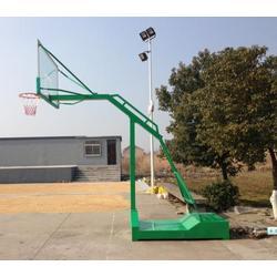 学校用电动液压篮球架图纸_晶康公司_河北电动液压篮球架图片