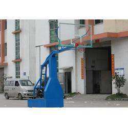 大学用电动液压篮球架制作、晶康公司、桂林电动液压篮球架图片