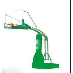 大学用电动液压篮球架制造_晶康公司_梧州电动液压篮球架图片