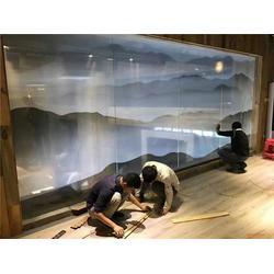 玻璃夾絲畫廠家-藝品尚裝飾-廈門玻璃夾絲畫圖片