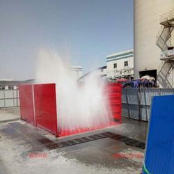 建筑工地洗车机减少了道路污染图片