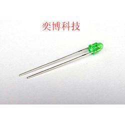 3mm异型绿发绿透明LED灯珠 医疗美容专用LED灯珠图片