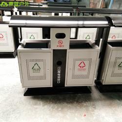 青蓝现货供应铁质垃圾桶 镀锌板果皮箱 厂区分类垃圾桶 量大从优图片