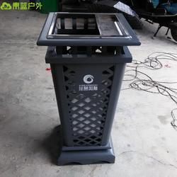 镂空钢板果壳箱 颜色可定制 商业街垃圾桶 钢制垃圾桶 青蓝厂家图片