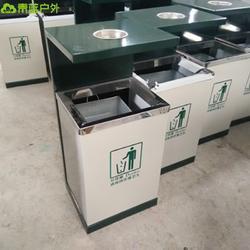 青蓝QL6102不锈钢投口果皮箱 大号钢板单筒 车站环卫桶 可按需定制图片
