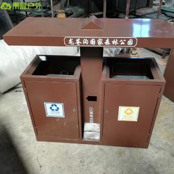 旅游景区果皮箱 咖啡色钢板垃圾桶 镀锌板垃圾桶颜色 可按需定制图片