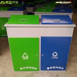 青蓝QL6209上开盖垃圾桶 乡村环卫桶 大号分类垃圾桶 喷塑垃圾桶颜色可定制图片