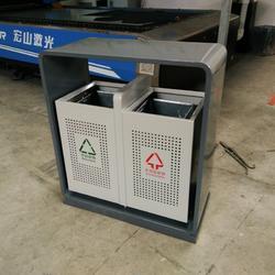新款高端环卫垃圾桶 冲孔果皮箱 体育馆分类垃圾箱 青蓝厂家按需定制图片