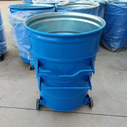 青蓝垃圾中转箱 圆形铁质垃圾桶 农村环保垃圾箱 可印制标语LOGO图片