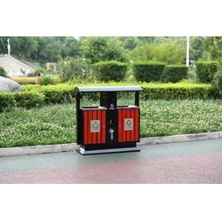 城市绿道果皮箱 木质环卫桶 钢木分类垃圾桶 青蓝工厂直销品质保障图片